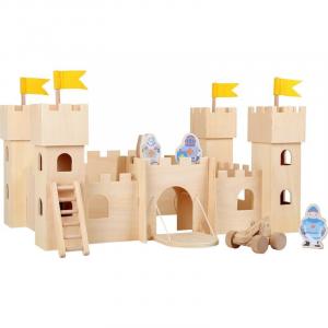 Castello in legno giocattolo dei cavalieri Natura