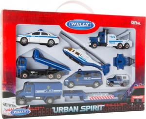 Auto veicolo della Polizia Set gioco da 8 pezzi