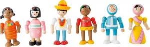 Popoli del mondo figure in legno flessibili Espositore display negozi edicole ludoteche