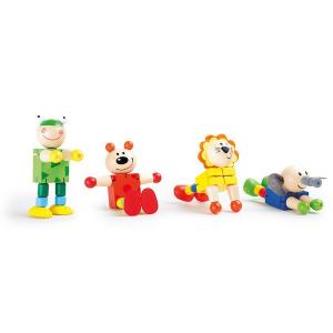 Display Animali flessibili in legno Legler 10128