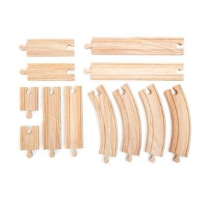 Set binari per ferrovie trenino in legno 12 pezzi Legler 10258