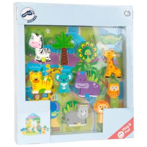 Zoo Mondo da giocare in legno