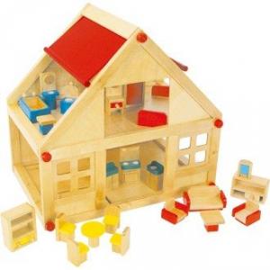 Casa delle Bambole in Legno con arredamento Gioco Bambina Legler 7253