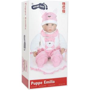 Bambola Emilia con ciuccio tutina berretto e biberon