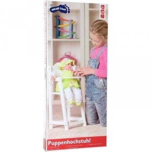 Seggiolone per bambole in legno laccato