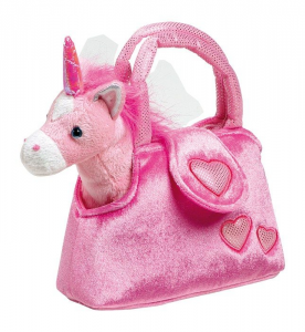 Borsa con Unicorno peluche borsetta bambina