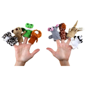 Marionette da dita per bambini animali Set da 8