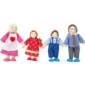 Personaggi casa delle Bambole Famiglia 4 pezzi Legler 10320