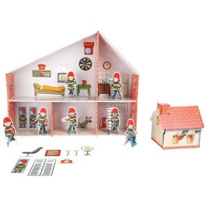 Casa delle Bambole in Cartone Caserma Vigili del Fuoco Legler 10763