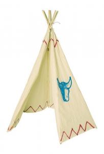 Tenda in legno e tessuto degli indiani gioco bambini