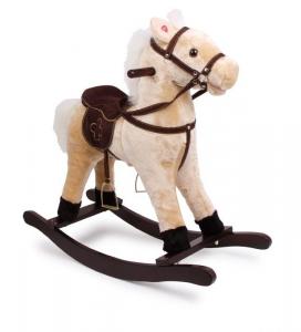 Cavallo a dondolo con suoni in velluto gioco per bambini