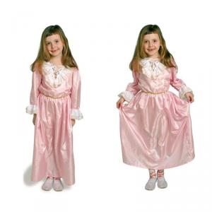 Costume - Vestito Carnevale Bambina 4 - 8 anni Principessa Rosa