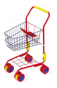 Carrello della spesa colorato in metallo gioco per bambini
