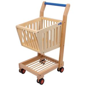 Carrello della spesa in legno gioco per bambini