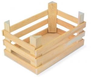 Cassa grande in legno per bancarella mercato gioco per bambini