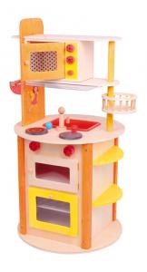 Cucina All in one in legno con tanti accessori giocattolo per bambini