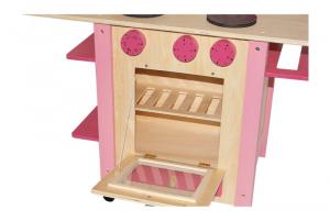 Cucina All in one in legno Rosa giocattoli per bambine