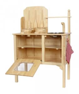 Cucina in legno Bamboo giocattolo per bambini con accessori