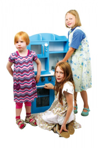 Cucina in legno giocattolo bambini Blue