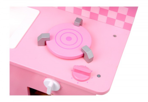 Cucina giocattolo per bambine in legno con accessori