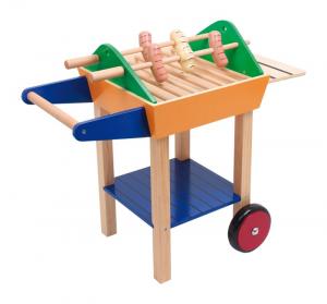 Barbecue in legno Party Grill con accessori giocattolo per bambini