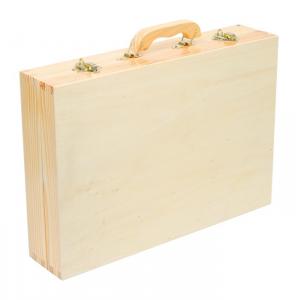 Valigia attrezzi giocattolo in legno con 48 utensili per bambino