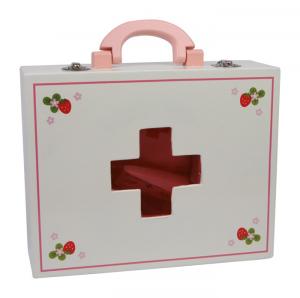 Kit dottore pronto soccorso giocattolo con valigetta in legno