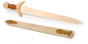 Accessorio per carnevale Spada in legno Vichinghi 2 pezzi
