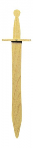 Spada in legno accessorio per costume carnevale veri cavalieri pirati e guerrieri