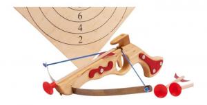 Balestra piccola con bersaglio da sport gioco in legno per bambini