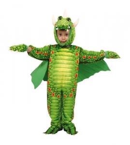 Vestito Costume Carnevale Bambino Drago Draghetto Verde 2-4 anni TAGLIA UNICA