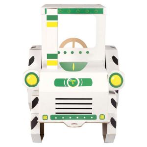 Casa cartone per bambini Trattore da dipingere gioco dim 123 69 90