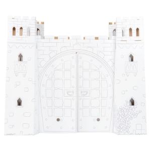 Casa cartone per bambini Castello da dipingere gioco dim 92 73 76