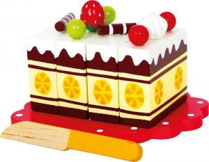 Alimenti giocattolo in legno per Cucina Torta di compleanno Legler 5809