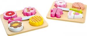 Tortina da tagliare con vassoio in legno Gioco bambini in cucina