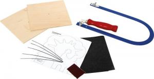 Set bricolage seghette a traforo con accessori per costruire fattoria in legno