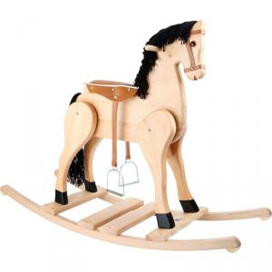 Cavallo a dondolo in legno Deluxe