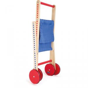 Carrello in legno per la spesa richiudibile Puntini Gioco bambini Legler 10428