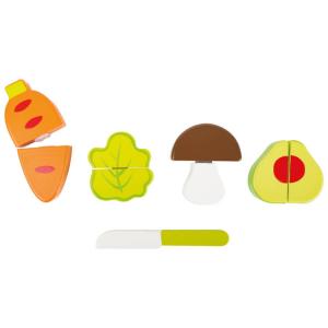 Set di verdure gioco accessori cucina in legno