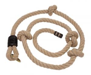 Fune/corda per arrampicata resistente con nodi fermo metallo e anelli