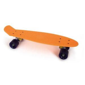 Skateboard per bambini colore Arancione neon materiale sintetico