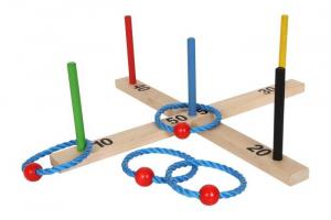 Gioco Lancia anello Colorato in legno giocattolo abilità bambini