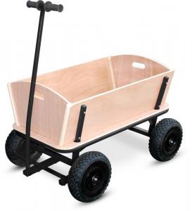 Carretto in legno per giardino Maxi per gioco spesa trasporto