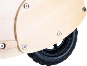 Scooter monopattino in legno di faggio giocattolo per bambini