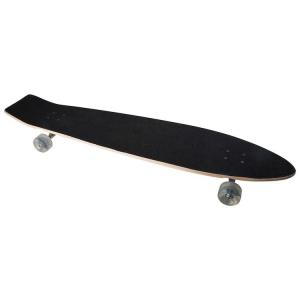 Longboard skateboard in legno con ruote e assi mobili