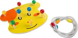 Gioco Lancia anello in legno Cane gioco di abilità per bambini