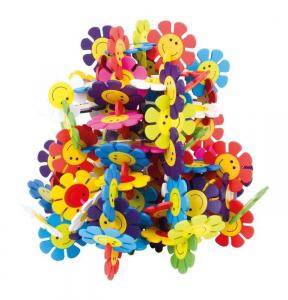 Puzzle incastro fiore in legno gioco motricità bambini