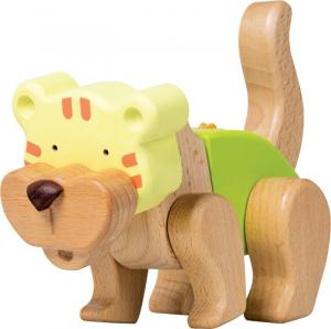 Kit costruzioni incastro tigre in legno pregiato gioco bambini