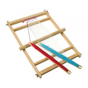 Telaio da Tessitura Giocattolo con 2 stecche per Gioco Scuola Legler 7490