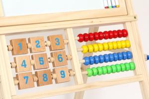 Lavagna con pallottiere e numeri in legno